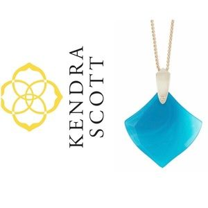 Kendra Scott Teal Agate Necklace NWT